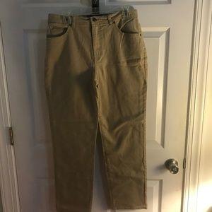 Gloria Vanderbilt, Amanda denim jeans tan, size 12